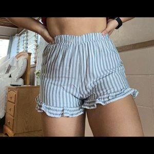 Cute American Eagle blue and white stripes shorts